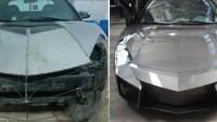 Faklı Çalışma, Mitsubishi marka arabasını Lamborghini'ye dönüştürdü