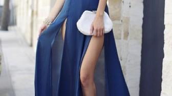 Muhteşem Tasarımlar; Yırtmaçlı Elbise Modelleri